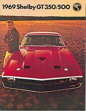 1969 69  SHELBY G.T. 350/500 SALES BROCHURE