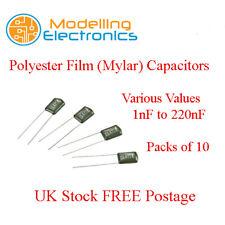 1nF - 220nF 100 V condensadores de película Mylar paquetes de 10