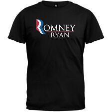Romney and Ryan Black Adult Mens T-Shirt