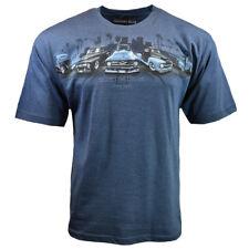 Respect The Legends Men's T-shirt Newport Blue Trucks American- Garage Gear