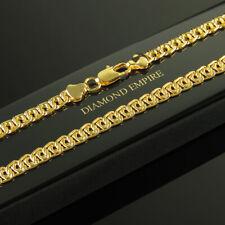Fantasiekette Halskette 6 mm Echt 750er Gold 18 Karat vergoldet gelbgold K2421-1