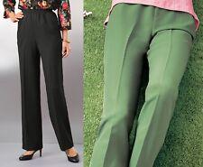 fc77635d799 New Womens Plus Size Haband Sara Morgan Pull On No Iron Poplin Stretch Pants