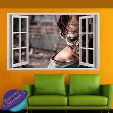 ZOMBIE DEAD WALKING HORROR 3D WINDOW WALL STICKER ROOM DECOR DECAL MURAL YQ5