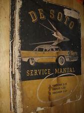 1957 DE SOTO MODELS S-25 / S-26 / S-27 / ORIGINAL DESOTO SHOP MANUAL