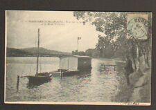 SURESNES - LONCHAMPS (92) CABANON & BATEAU , Bords de SEINE animé en 1905