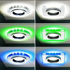 LED Glas Einbau Leuchte Deko Licht Flur Decken Lampe Arbeits Zimmer Beleuchtung
