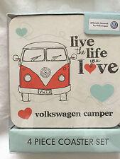 VW Camper Van - Live the Life You Love - fun mug, coasters, notepad