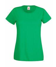 T-shirt Donna VERDE PRATO - Maglietta Fruit of The Loom super fashion moda style