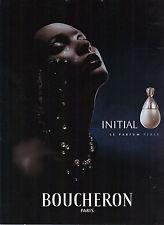 PUBLICITE ADVERTISING   2000   BOUCHERON  parfum INITIAL                  231212