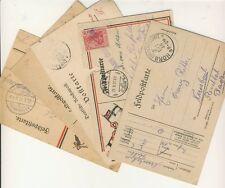 5 Feldpostkarten 1900 und 1915-1917 mit Nebenstempeln (B00082)