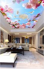 3D Flower Doves Sky 7 Ceiling Wall Paper Print Wall Indoor Wall Murals CA Lemon