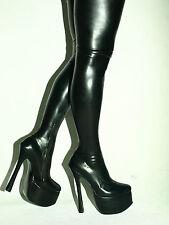 Latex Overknee Stiefel Heel 20cm   41 42 43 44 45 46 47 -Bolingier POLAND