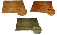 Wooden Mat Bamboo Wood Bathroom Rug Teak Shower Mat Sauna Mat Bath Mat Brown