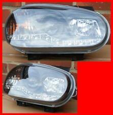 VW Golf mk4 Nero r8 LED Fari Occhio del Diavolo-Nuovo