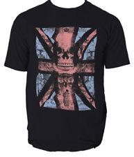 UK Skull t shirt England union holigans s-3xl