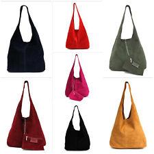 made in Italy: Handtasche Schultertasche Beuteltasche Boho Bag Leder 7 Farben