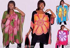 2 piece set top tunic poncho scarf  M L XL 1X 2X 4X lovely designer batik art