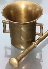 Antiker Messing Mörser 3,2 kg - guter Zustand um 1890 , sammelwürdig !!!