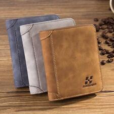 Men Slim PU Leather Bifold Wallet Credit/ID Card Holder Purse Billfold Pocket Y2