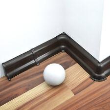 52mm PVC Fußleisten Sockelleisten LAMINAT ab 15m SPARPAKET Dübel Zubehör WENGE