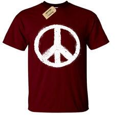 PEACE SYMBOL T-Shirt mens sign world fashion top nature love