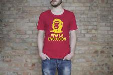 Revolution T shirt  Viva La Evolucion T-Shirt / Red Tshirt Evolution
