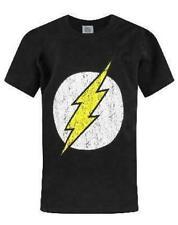 DC Comics Flash Distressed Logo Boy's Children's Black T-Shirt Top