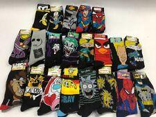 Mens Crew Socks 2 PACK Disney Nickelodeon Marvel DC WB Looney Tunes Rick Morty