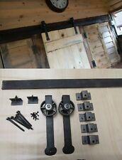 Schmiedeeisen Rustikale Vintage Stil Barn Band Wandbehang Schiebetür Set Gear