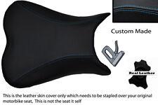 blue stitch CUSTOM 06-08 K6 K7 K8 600/750 FITS SUZUKI GSXR LEATHER SEAT COVER