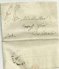 1809 Raro Coventry Fleuron Por Charles Radford Carta A Rochdale re Canal comparte