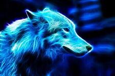 142142 Wolf Wild Natur Animals Pop Wall Print Poster Affiche