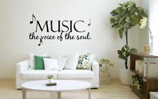 La musica è la voce dell'anima Casa Wall Art Sticker Decal O53