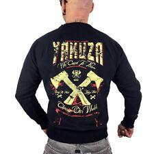 Yakuza Herren Sweatshirt We Come In Peace PB 9062 schwarz Pullover Axt Shirt