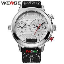 Orologio da Polso Uomo Weide WH-6405 Triplo Orario Analogico & Digitale Luce Led