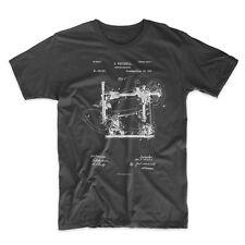 Sewing Machine Patent T-Shirt, Sewing Shirt Patent Art 100% Soft Cotton Comfy