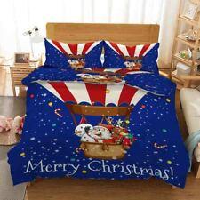 Hot Balloon Snowman 3D Printing Duvet Quilt Doona Covers Pillow Case Christmas