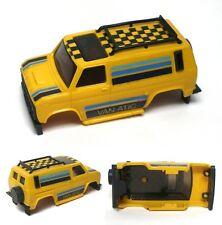 1980 Ideal TCR Vanatic Van Yellow, Black & Blue Slot Car Body