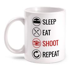 Sleep Eat Shoot Repeat Fotografieren Tasse Geschenk Idee Fotograf Arbeit Beruf