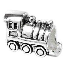 Sterling Silver Train Engine Transportation for European Charm bracelets