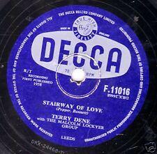 """UK #16  TERRY DENE  78 """" STAIRWAY OF LOVE / LOVER LOVER """" UK DECCA F11016  EX/E-"""