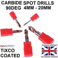 CARBIDE NC SPOT DRILL 90 DEGREE TiXCO COATED SPOTTING DRILL CNC MILLING