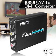 CVBS 3RCA AV 1080P HD Compuesto & S-Vídeo R/L Audio A HDMI Convertidor Adaptador