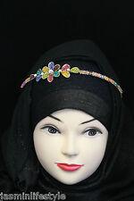 Ladies Bridal Diamante Crystal Floral Tiara Hijab Costume Jewellery Head Band