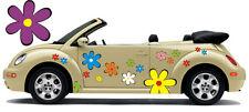 Hippie Flower Car Sticker Flower Sticker Flower Power: Hippie Flower Set 025