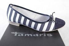 Tamaris Damen Ballerina blau/weiss  Neu!