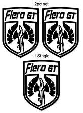 Pontiac Fiero GT Pegasus Shield Vinyl Decal Sticker/s *FREE SHIPPING* 19 Colors