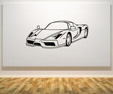 COCHE deporte carreras velocidad FAST FURIOUS Adhesivo de pared decorativo