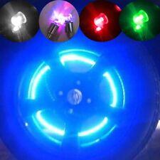 4xDome bike bicycle valve dust cap LED lights Multi Colour Neon Car Wheel Tire