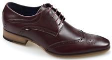 Zapatos para hombre Rojizo de Cuero Brogue en liquidación precio-Stock Limitado